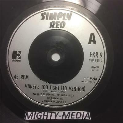 """SIMPLY RED  - MONEYS TOO TIGHT (TO MENTION)  - 7"""" Vinyl Record : EX (o283)"""