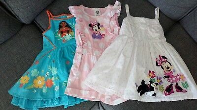 Girls Disney dress x2 & playsuit, size 3 years old, excellent condition