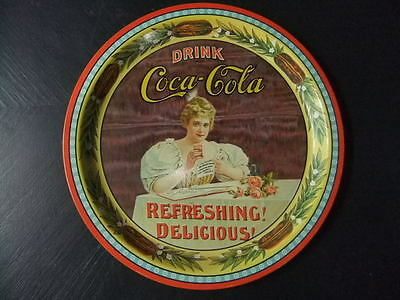 Coca Cola tin plate Hilda Clark 75 years in Kentucky 1976 commemorative tray