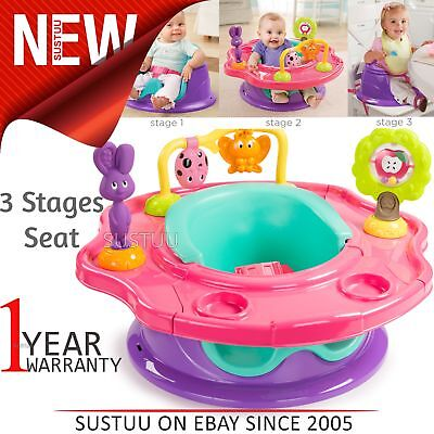 Summer Infant 3-Stage Super Seat│360° Rotating Tray│4 Playful Toys+2 Cup Holders