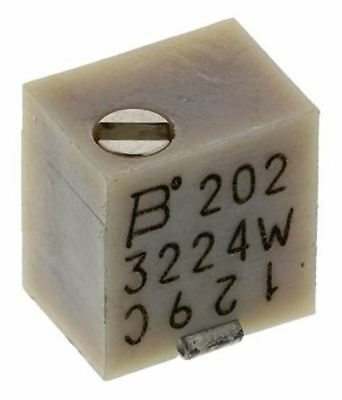 Bourns 3224W Series 12-Turn SMD Trimmer Resistor with J-Hook Terminations, 2kΩ