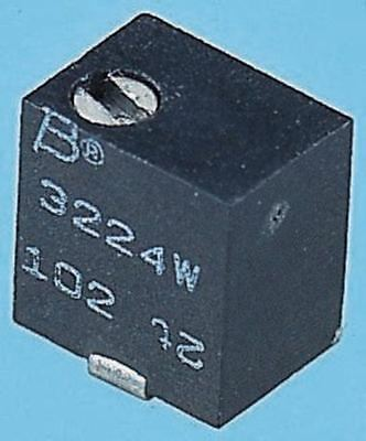 Bourns 3224W Series 12-Turn SMD Trimmer Resistor with J-Hook Terminations, 500kÎ