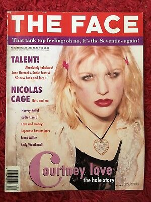 The Face Magazine Feb 1993 Featuring Courtney Love
