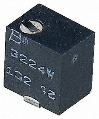 Bourns 3224W Series 12-Turn SMD Trimmer Resistor with J-Hook Terminations, 100Ω