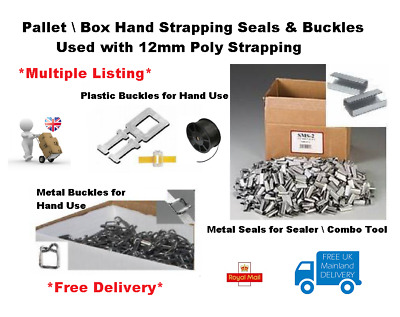 12mm Poly Pallet  Hand Strapping - Strapping Seals & Buckes  * Multi-Listing *