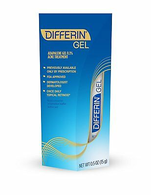 Differin Adapalene Gel 0.1% Prescription Strength Retinoid Acne Treatment 0.5 oz