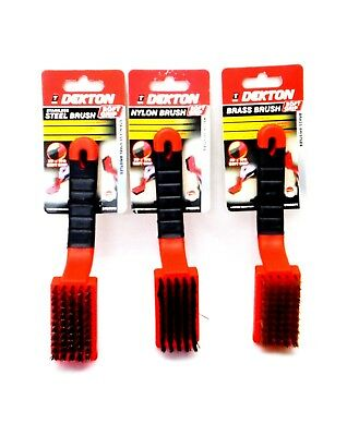 Nylon,Brass and Stainless Steel Soft Grip Wire Brushes ideal for various uses.