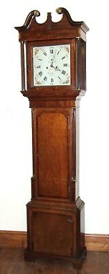 Antique Oak & Mahogany Inlaid Grandfather Longcase Clock BENJAMIN PEERS CHESTER