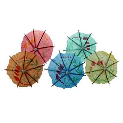 50x/lot Wedding Cocktail Drs Party Sticks Paper Parasol Umbrella N6I9