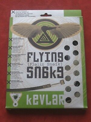 NEW Flying Snake Brake Cable Set Made with Kevlar Road MTB Mountain Bike NOS