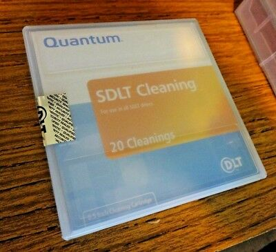 """New Quantum Sdlt 0.5"""" Cleaning Cartridge. 20 Cleanings. Mr-Saccl-01"""