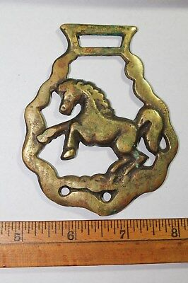 Vintage Horse Brass Rearing Horse Equine Martingale Decoration Good Luck