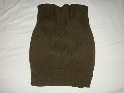 Reproduction WW2 WWII Canadian American US Wool Sweater Vest V Neck Red Cross
