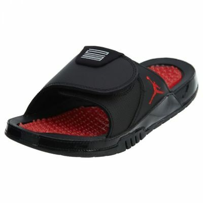 4d7c08275 Jordan Hydro XI 11 Retro Bred Mens AA1336-001 Black Red Slide Sandals Size 8