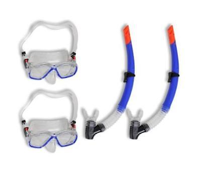 2 Pcs Quality Adult SCUBA Diving Snorkelling Set Kit Snorkel Tempered Glass Mask