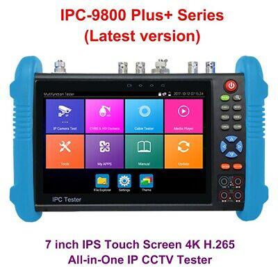 "IPC-9800 Plus Series 7"" IP CCTV Tester Monitor 4K H.265 Onvif TVI CVI AHD Analog"