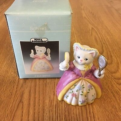 "Vintage Kitty Cucumber Figurine ""Priscilla"" Time for the Ball"