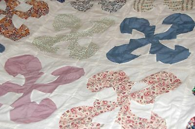 Vintage Drunkards Path Cotton Quilt Top Repair Repurpose