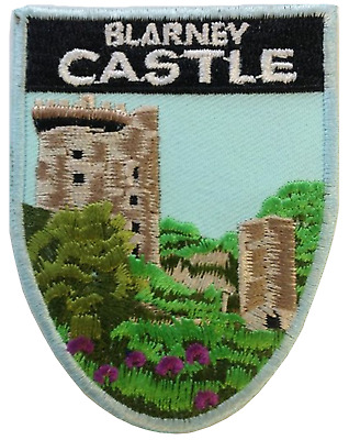 Ireland Blarney Castle Shield Embroidered Patch