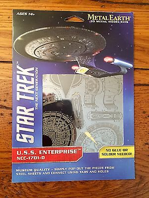 Fascinations Metal Earth STAR TREK U.S.S. ENTERPRISE NCC-1701-D Metal Model Kit