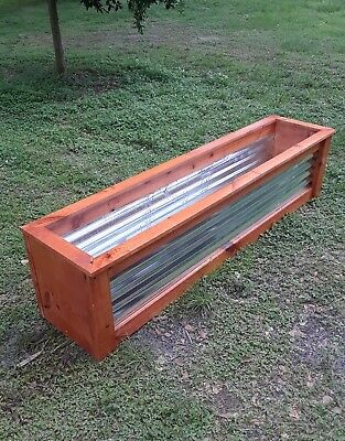 Raised Garden Bed Kit Wooden corrugated Planter galvanized metal planter 7' ! !