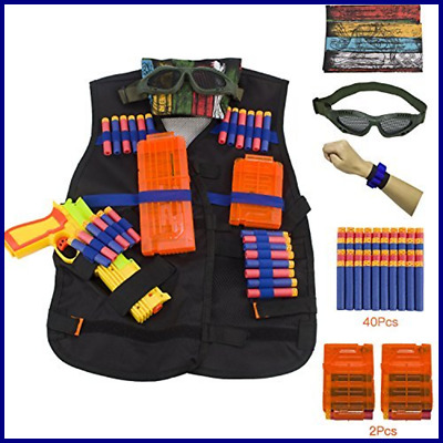 KepooMan Tactical Vest Kit for Nerf Guns N-Strike Elite Series with Tactical Wai
