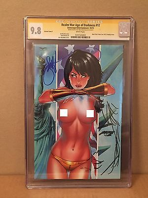 Realm War Age of Darkness 12 CGC SS 9.8 NYCC 2015 Eric Basaldua Cosplay cover!