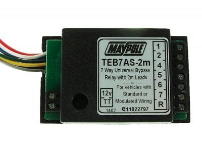 Maypole MP3877B2M 12V 7 Way Bypass 2 Metre Cable