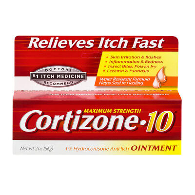 New Cortizone 10 Maximum Strength 1% Hydrocortisone Anti-Itch Ointment 2 OZ.