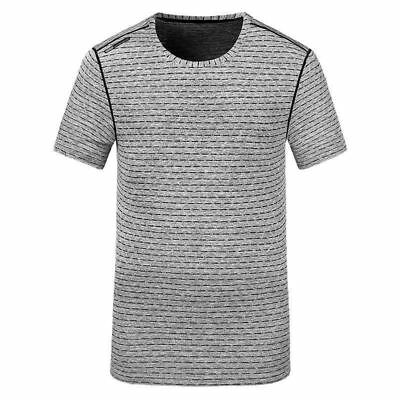 Summer Fashion New Solid Breathable Men's Fitness Quick-drying T-shirt