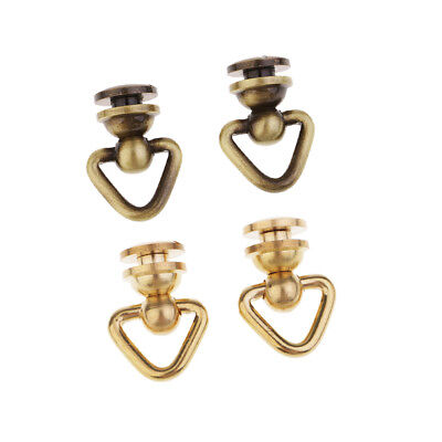 4pcs Rivet Stud with Ring Round Head Screwback Button Screw Leather Crafts