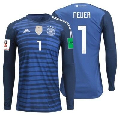 785fb742cc Adidas Manuel Neuer Germany Home Goalkeeper Jersey World Cup 2018 Patches.