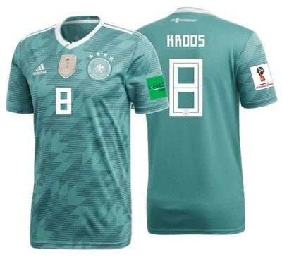 47b63fa06d0 ADIDAS TONY KROOS Germany Away Jersey World Cup 2018 Patches ...