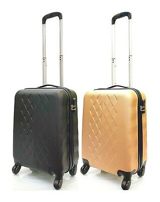579eb3591 Hand Luggage Lightweight ABS Hard Shell 4 Wheel Spinner Carry on Cabin  Suitcase