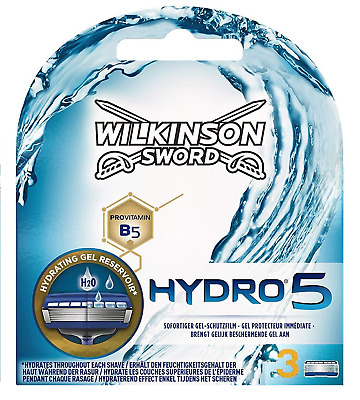Wilkinson Sword Hydro 5 Men's Razor Blades x3 Genuine