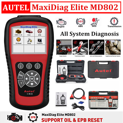 Autel Maxidiag Elite MD802 Pro All System + DS Model Scan Tool ENG ABS SRS OBD2