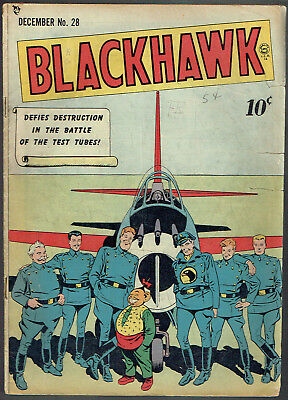 BLACKHAWK  28  GD/VG/3.0  -  Tough-to-find early issue from 1949!