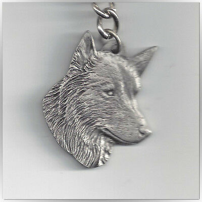 I Love My Belgian Sheepdog Vintage Pewter Key Chain Free Shipping
