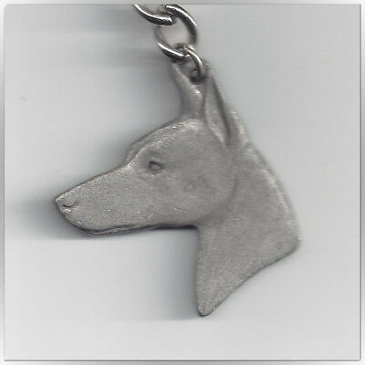 I Love My Manchester Terrier Vintage Pewter Key Chain