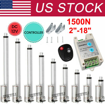 DC 12V Linear Actuator 330LB/1500N 50-450mm for Auto Car Lift Heavy Duty Medical