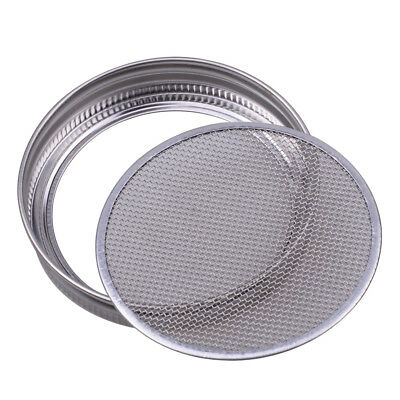 Sprouting Lid Stainless Steel Strainer for Wide Mouth Mason Canning Jar Silver