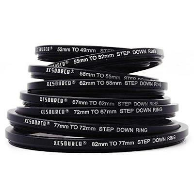 XCSOURCE 8x Step Up + 8x Step Down Ring Filter Stepping Adapter 49-82mm 82-49mm