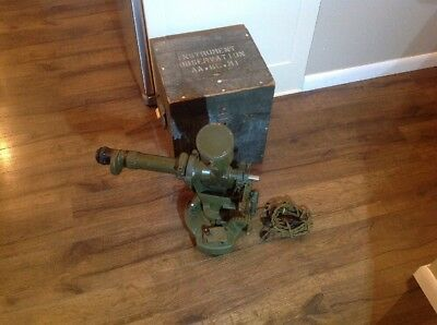 Instrument Observation Aa Bc M1 Telescope Elbow & Base & Box Wwii Army