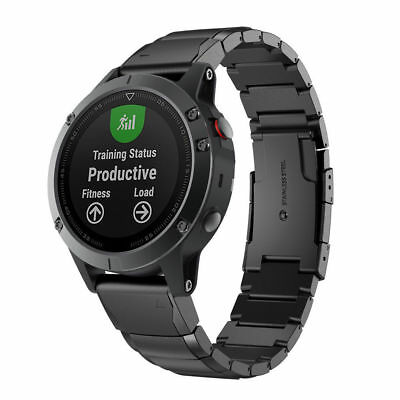 26mm Quick Replace Band Strap For Garmin Fenix 5X Watch Stainless Steel Bracelet