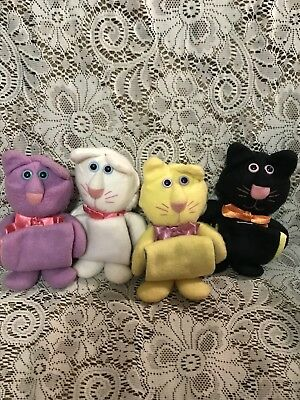 Vtg Hallmark Purr-Tenders Cats Sock-Ems Stockings Burger King 1987 Complete Set