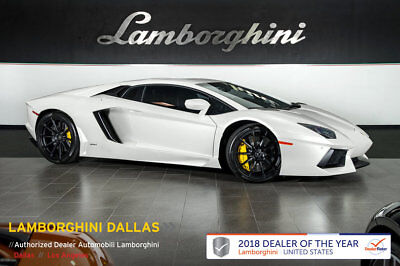 Lamborghini Aventador  CPO WARRANTY!+BALLOON WHITE!+LOADED CAR+NAV+REAR CAMERA+CLEAR BONNET+FULL POWER