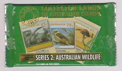 (K102-1) Old stock Au collector cards  wildlife series II 8cards to a Pack (B)