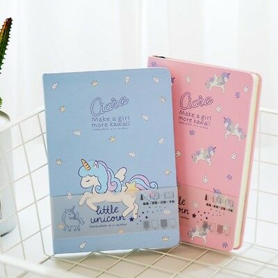 """""""Unicorn ver.2"""" 1pc Cute Hard Cover Diary Notebook Journal Freenote Student Gift"""
