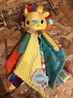NEW Taggies Bright Starts Cuddles 'n Tags Blankie Lovey Toy Security Blanket