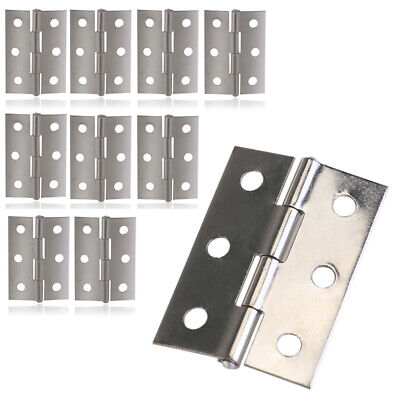 10Pcs Stainless Steel Glass Hinge Door Hinge Furniture Cabinet Hinges Hardware